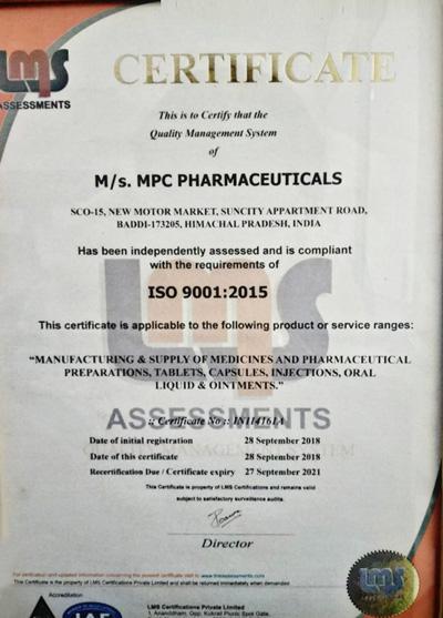 Mpc Pharmaceuticals- Pharmaceutical Companies in Panchkula