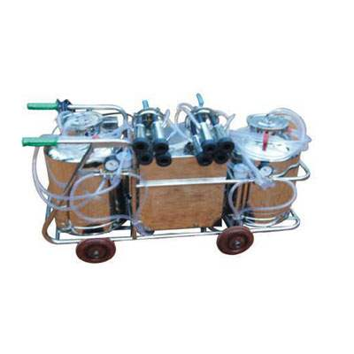 Double Bucket Electric Battery Operated Milking Machine